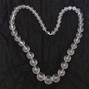 Lucite like necklace